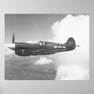 Curtiss P-40E Poster