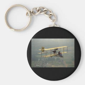 Curtiss, reproducción del empujador, aviación llavero redondo tipo pin