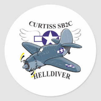 curtiss sb2c helldiver classic round sticker