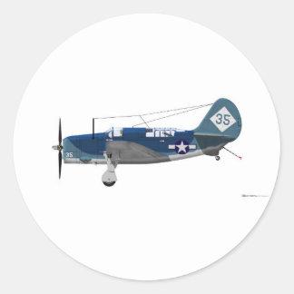 Curtiss SB-2C Helldiver Classic Round Sticker