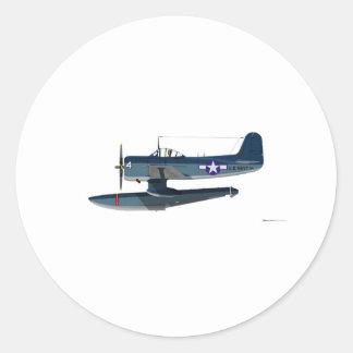 Curtiss SC-1 Seahawk Classic Round Sticker