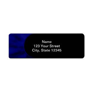 Curva azul eléctrica etiqueta de remite