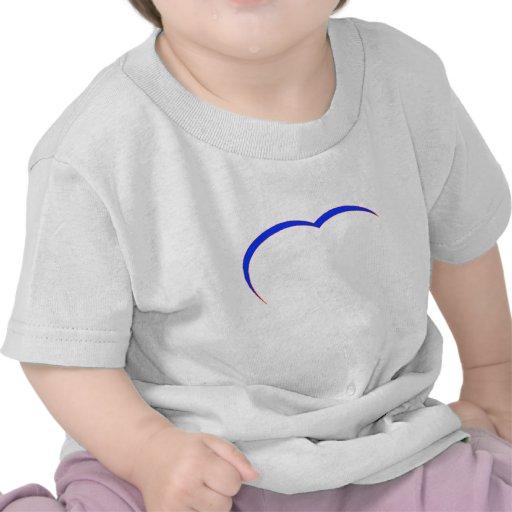 Curva Azul-Roja del corazón los regalos de Zazzle Camisetas