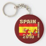 Curva de España 2010 de los jugadores de fútbol él Llavero Personalizado