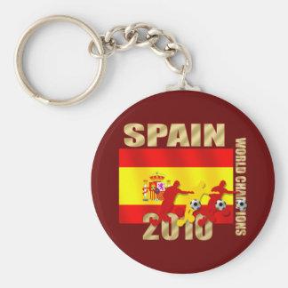 Curva de España 2010 de los jugadores de fútbol él Llavero Redondo Tipo Pin