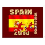 Curva de España 2010 de los jugadores de fútbol él Tarjetas Postales