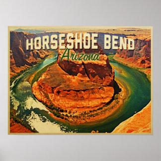 Curva de herradura Arizona Posters