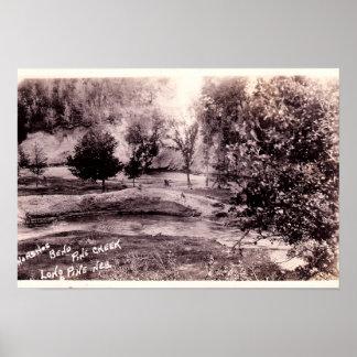 Curva de herradura de Nebraska del pino largo en c Posters