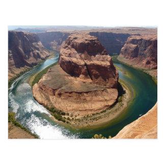 Curva de herradura en la página, postal de Arizona