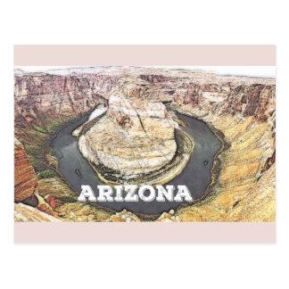 Curva de herradura - Gran Cañón - Arizona Postal
