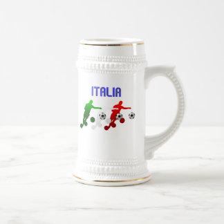 Curva de Italia Calcio él bandera de Italia del Jarra De Cerveza