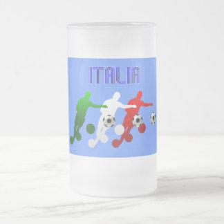 Curva de Italia Calcio él bandera de Italia del Jarra De Cerveza Esmerilada