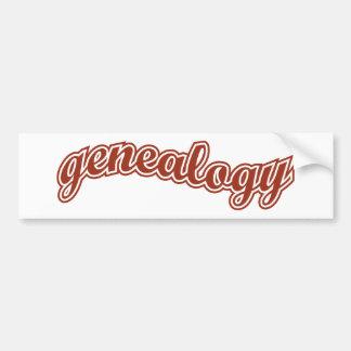 Curva de la genealogía - rojo etiqueta de parachoque