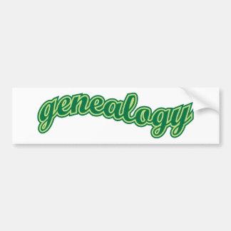 Curva de la genealogía - verde pegatina de parachoque