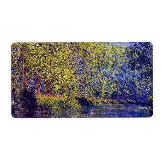 Curva de la pintura de Monet en el río Epte cerca Etiqueta De Envío