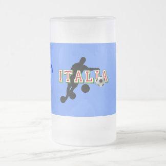 Curva de los jugadores de fútbol del logotipo de taza de cristal