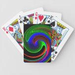 Curva de neón cartas de juego