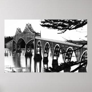 Curva de PhotographNorth del puente de la bahía de Póster