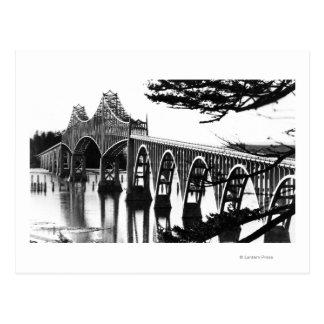 Curva de PhotographNorth del puente de la bahía de Tarjeta Postal