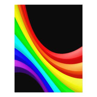 """Curva del arco iris folleto 8.5"""" x 11"""""""