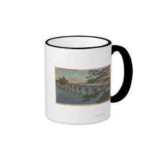 Curva del norte, Oregon - opinión del puente de la Taza