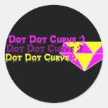 Curva del punto del punto:) pegatina del diamante