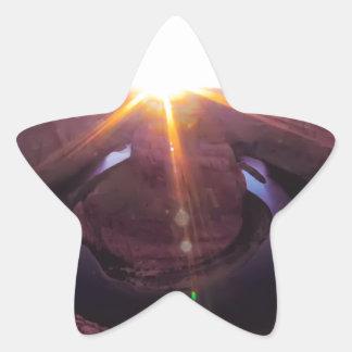 Curva del zapato del caballo en Arizona Pegatina En Forma De Estrella