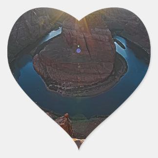 Curva del zapato del caballo en la página, Arizona Pegatina En Forma De Corazón
