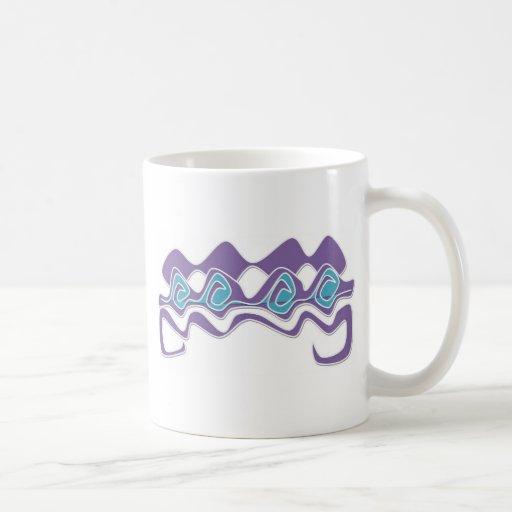 curva diseñada tazas de café