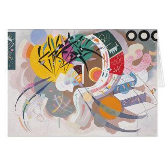 Curva dominante tarjeta de felicitación
