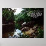 Curva en el río del panadero, Rumney, poster del N