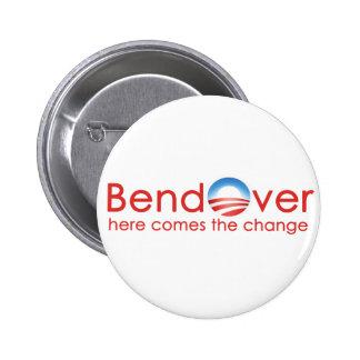Curva encima para el cambio de Barack Obamas Pins