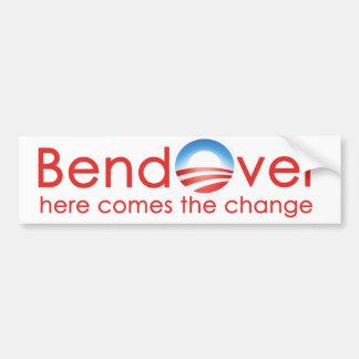 Curva encima para el nobama del cambio de Barack Pegatina Para Auto