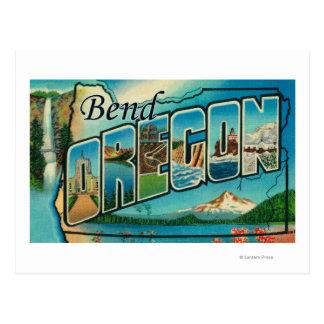 Curva, letra ScenesBend de OregonLarge, O Postal