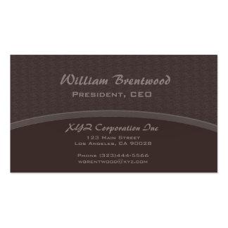 curva marrón elegante tarjetas de visita