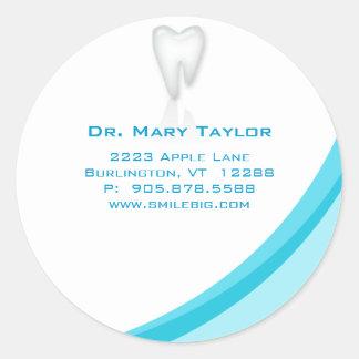 Curva molar dental de la turquesa del pegatina del