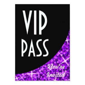 """Curva negra púrpura """"invitación del Glitz del paso Invitación 5"""" X 7"""""""