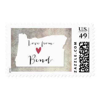 Curva, Oregon Sellos Postales