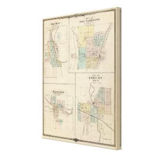 Curva, puerto Washington, Hartford y Horicon del o Impresión En Lienzo Estirada