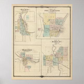 Curva, puerto Washington, Hartford y Horicon del o Posters