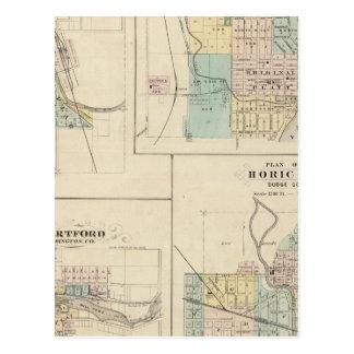 Curva, puerto Washington, Hartford y Horicon del o Tarjetas Postales