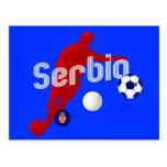 Curva tiene gusto de un jugador de fútbol de Srbia Tarjetas Postales