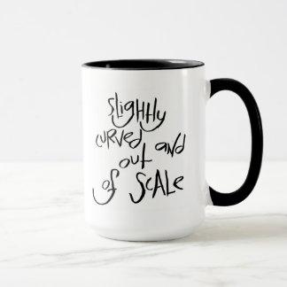 Curvado levemente y fuera de escala taza