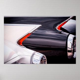 Curvas 1960 de Cadillac Póster