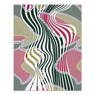 Curvas abstractas, arte multicolor modelado de la fotografías