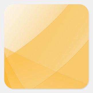 Curvas amarillas pegatina cuadrada