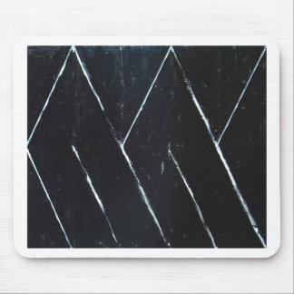 "Curvas angulares negras en forma de ""U"" (minimalis Tapetes De Ratón"