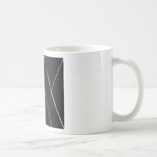 """Curvas angulares negras en forma de """"U"""" (minimalis Tazas De Café"""