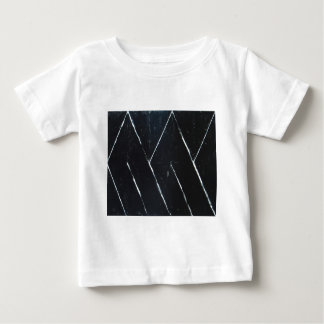 """Curvas angulares negras en forma de """"U"""" Poleras"""