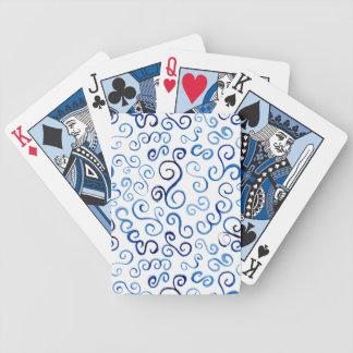 Curvas azules pintadas extracto baraja de cartas bicycle